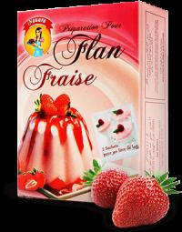Flan familiale goût fraise 800 g
